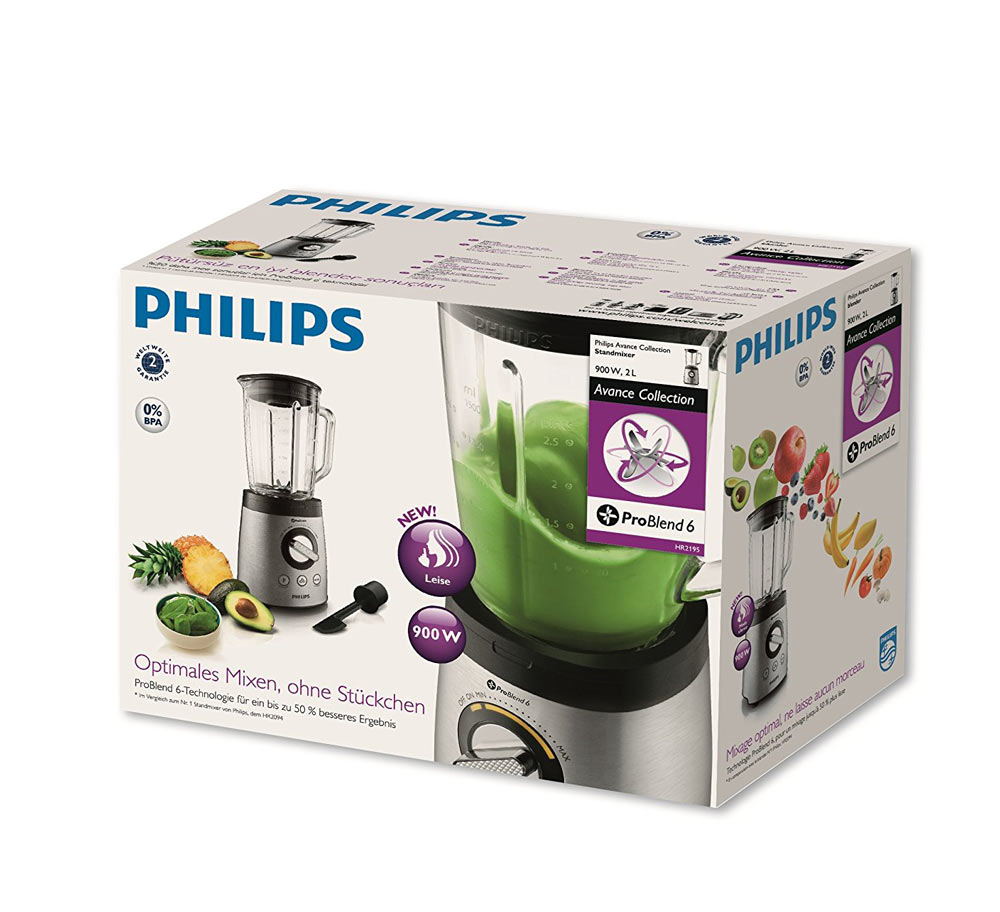philips hr2195 im test aktuelle standmixer im vergleichstest. Black Bedroom Furniture Sets. Home Design Ideas